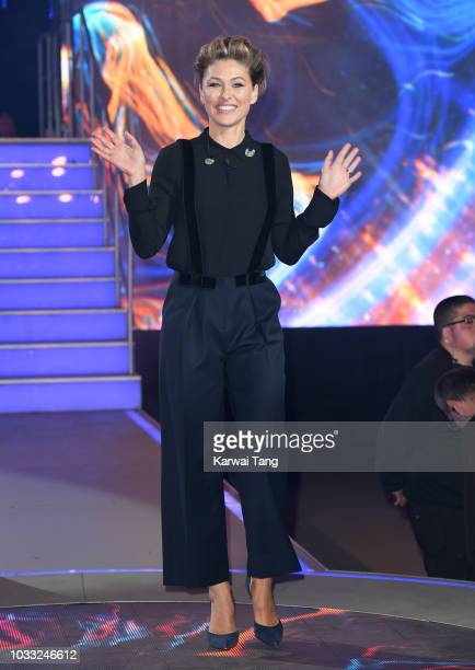 Emma Willis presents from the Big Brother house at Elstree Studios on September 14 2018 in Borehamwood England