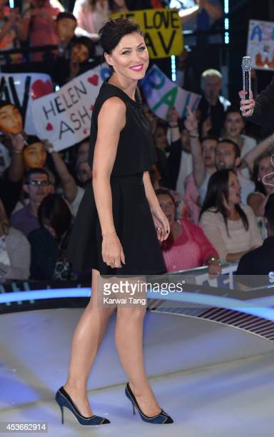 Emma Willis presents from the Big Brother house at Elstree Studios on August 15 2014 in Borehamwood England
