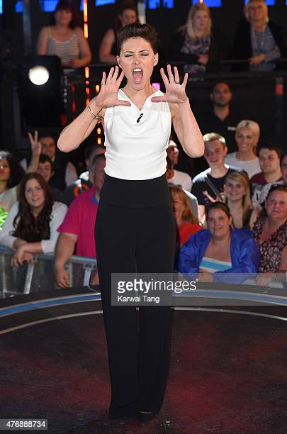 Emma Willis presents from the Big brother house at Elstree Studios on June 12, 2015 in Borehamwood, England.