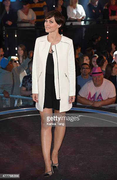 Emma Willis presents from the Big Brother Timebomb house at Elstree Studios on June 19 2015 in Borehamwood England