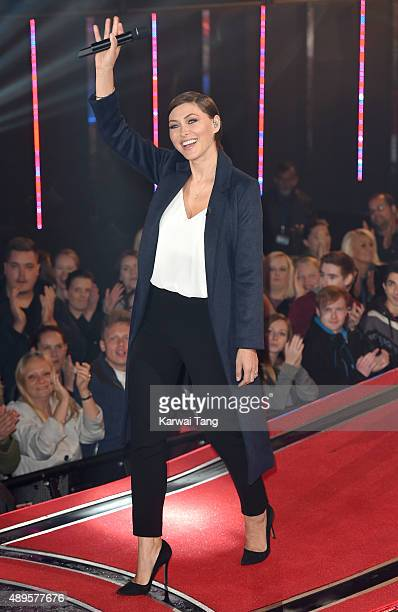 Emma Willis presents from the Celebrity Big Brother house ahead of the final on Thursday September 24, at Elstree Studios on September 22, 2015 in...