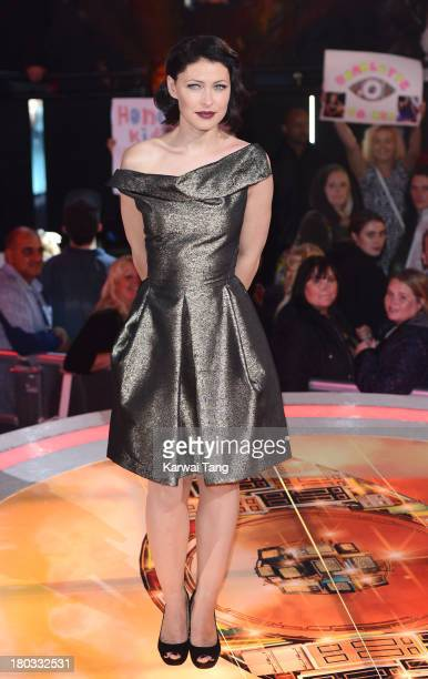 Emma Willis presents from the Celebrity Big Brother House at Elstree Studios on September 11, 2013 in Borehamwood, England.
