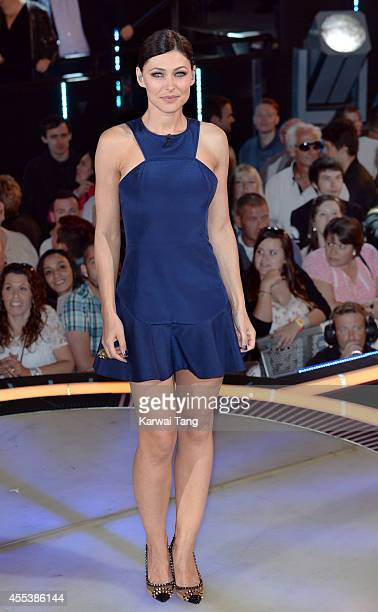 Emma Willis presents from the Celebrity Big Brother house at Elstree Studios on September 12 2014 in Borehamwood England