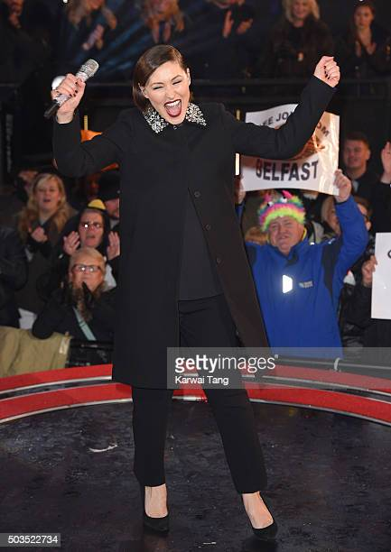 Emma Willis presents from the Celebrity Big Brother House at Elstree Studios on January 5 2016 in Borehamwood England