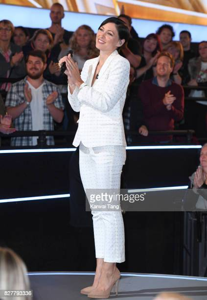 Emma Willis presents from the Celebrity Big Brother House at Elstree Studios on August 8 2017 in Borehamwood England