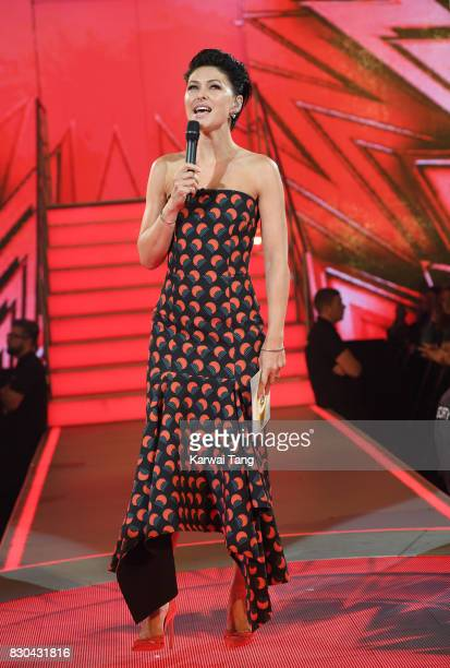 Emma Willis presents from the Celebrity Big Brother House at Elstree Studios on August 11, 2017 in Borehamwood, England.