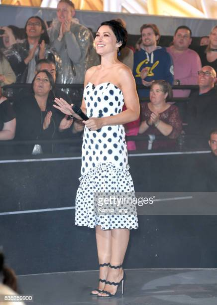 Emma Willis presents from the Celebrity Big Brother House at Elstree Studios on August 18 2017 in Borehamwood England
