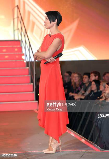 Emma Willis presents from the Celebrity Big Brother House at Elstree Studios on August 22 2017 in Borehamwood England