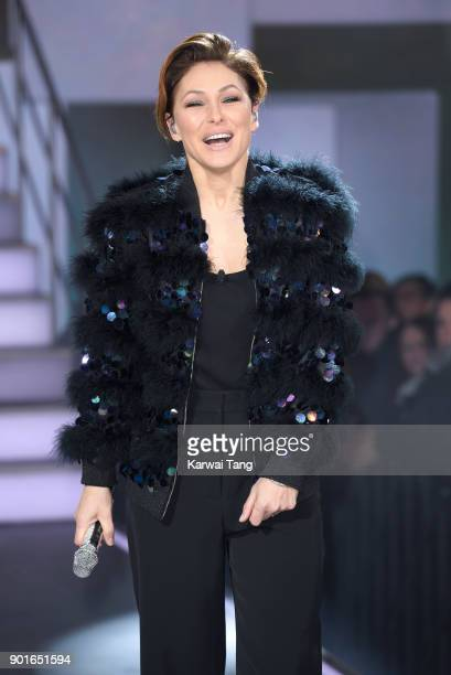 Emma Willis presents from the Celebrity Big Brother house at Elstree Studios on January 5 2018 in Borehamwood England