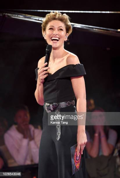 Emma Willis presents from the Celebrity Big Brother House on September 3 2018 at Elstree Studios in Borehamwood United Kingdom