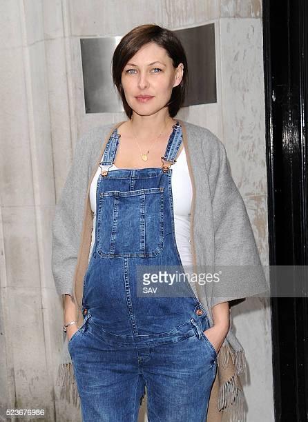 Emma Willis seen arriving at BBC2 Radio Studio on April 22 2016 in London England
