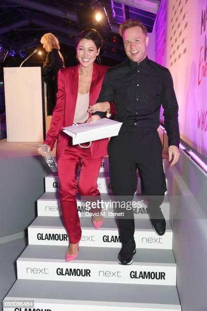 Emma Willis winner of the TV Personality award and presenter Olly Murs attend the Glamour Women of The Year Awards 2017 in Berkeley Square Gardens on...