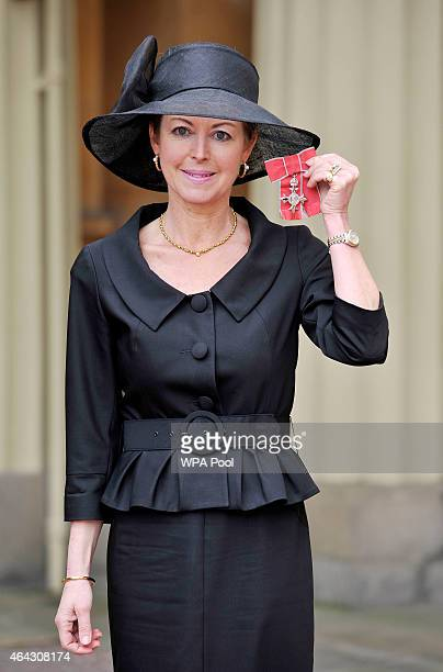 Emma Willis with her Member of the Order of the British Empire medal presented to her by the Duke of Cambridge for services to Entrepreneurship...