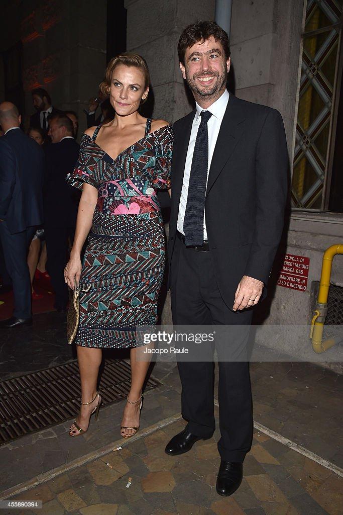 Emma Winter and Andrea Agnelli attend Vogue Italia 50th ...
