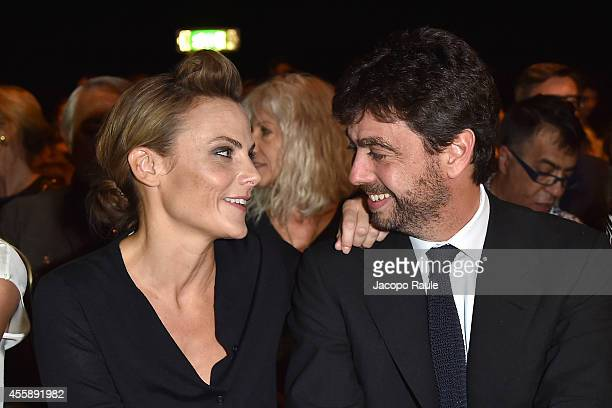 Emma Winter Andrea Agnelli attends Trussardi Fashion Show during Milan Fashion Week Womenswear Spring/Summer 2015 on September 21 2014 in Milan Italy