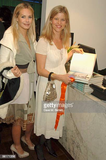 Emma Woolard and guest attend the India Hicks hosted dinner to launch her new book Island Beauty Natural Inspiration For Mind Body And Soul at the...