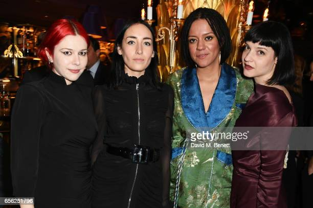 Emma Wyman Elizabeth Fraser Bell Nell Kalonji and Olivia Singer attend the Another Man Spring/Summer Issue launch dinner in association with Kronaby...
