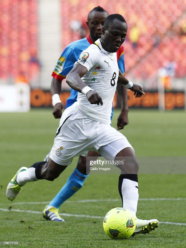 Emmanual Agyeman Badu of Ghana in action during the 2013 African Cup of Nations match between Ghana and Congo DR at Nelson Mandela Bay Stadium on January 20, 2013 in Port Elizabeth, South Africa.