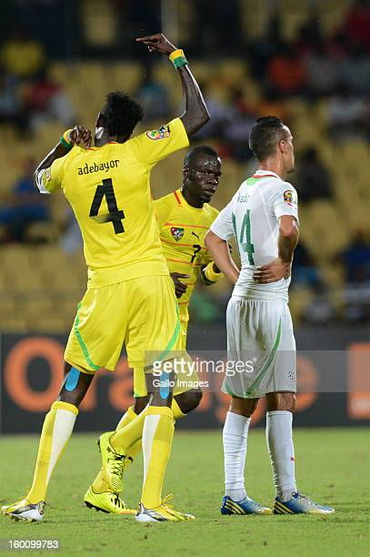 AFRICA JANUARY 26 Emmanuel Adebayor celebrates his goal during the 2013 African Cup of Nations match between Togo and Algeria at Royal Bafokeng...