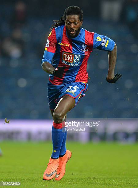 Emmanuel Adebayor of Crystal Palace during the Barclays Premier League match between West Bromwich Albion and Crystal Palace at The Hawthorns on...
