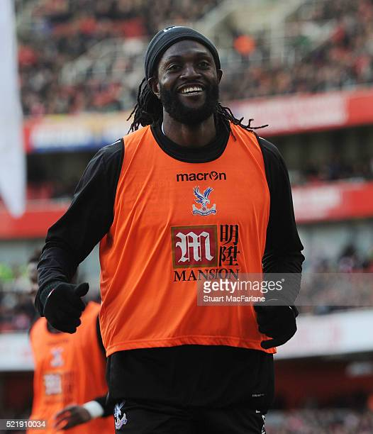 Emmanuel Adebayor of Crystal Palace during the Barclays Premier League match between Arsenal and Crystal Palace at Emirates Stadium on April 17 2016...