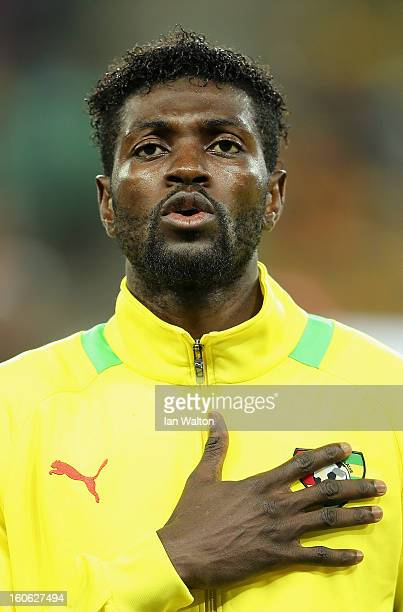 Emmanuel Adebayor of Togo during the 2013 Africa Cup of Nations QuarterFinal match between Burkina Faso and Togo at the Mbombela Stadium on February...
