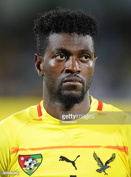 Emmanuel Adebayor of Togo during the 2013 African Cup of Nations Group D match between Algeria and Togo at the Rustenburg Stadium in Rustenburg South...