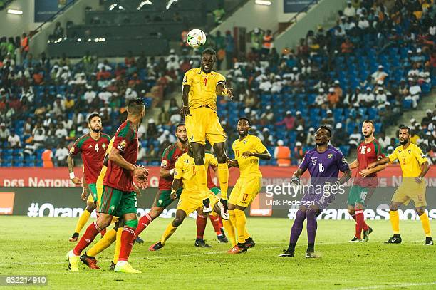 Emmanuel Adebayor of Togo during the African Nations Cup match between Morocco and Tongo on January 20 2017 in Oyem Gabon
