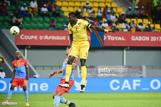 Emmanuel Adebayor of Togo during the African Nations Cup match between Tongo and Congo on January 24 2017 in Port Gentil Gabon