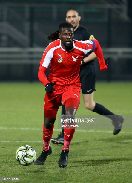 Emmanuel Adebayor of Togo during the international friendly match between Togo and Ivory Coast at Stade Pierre Brisson on March 24 2018 in Beauvais...