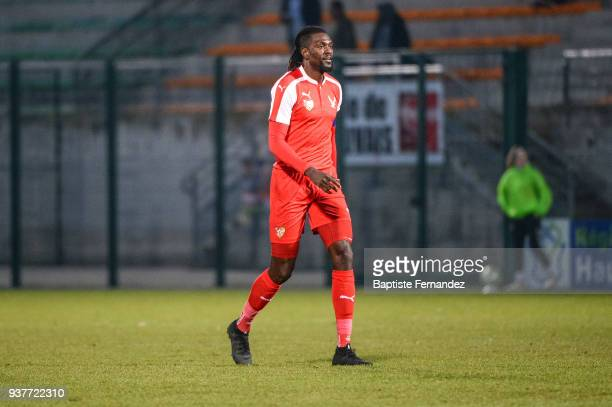 Emmanuel Adebayor of Togo during the International friendly match between Togo and Ivory Coast on March 24 2018 in Beauvais France
