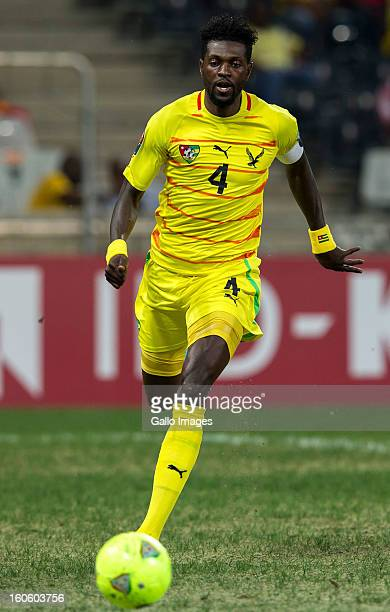Emmanuel Adebayor of Togo in action during the 2013 African Cup of Nations 4th Quarter Final match between Burkina Faso and Togo at Mbombela Stadium...