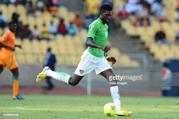 Emmanuel Adebayor of Togo in action during the 2013 Orange African Cup of Nations match between Ivory Coast and Togo at Royal Bafokeng Stadium on...