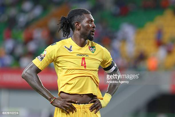 Emmanuel Adebayor of Togo is seen during the 2017 Africa Cup of Nations Group C match between Togo and Democratic Republic of the Congo in PortGentil...