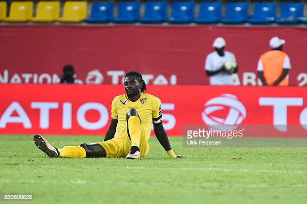 Emmanuel Adebayor of Togo looks dejected during the African Nations Cup match between Togo and Congo on January 24 2017 in Port Gentil Gabon