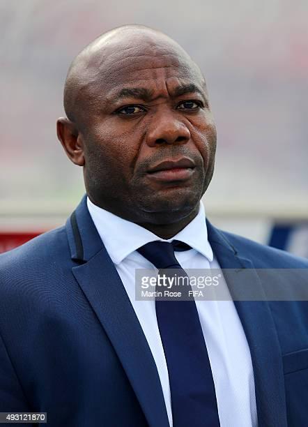Emmanuel Amunike, head coach of Nigeria looks on before the FIFA U-17 Men's World Cup 2015 group A match between Nigeria and USA at Estadio Nacional...