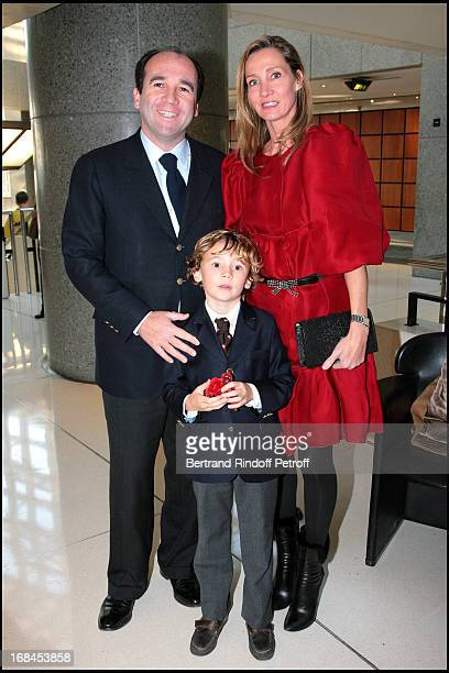 Emmanuel and Marie Moatti and Nathaniel at L' Arop Gala Evening Reve D' Enfants With Featuring Casse Noisette At L' Opera Bastille