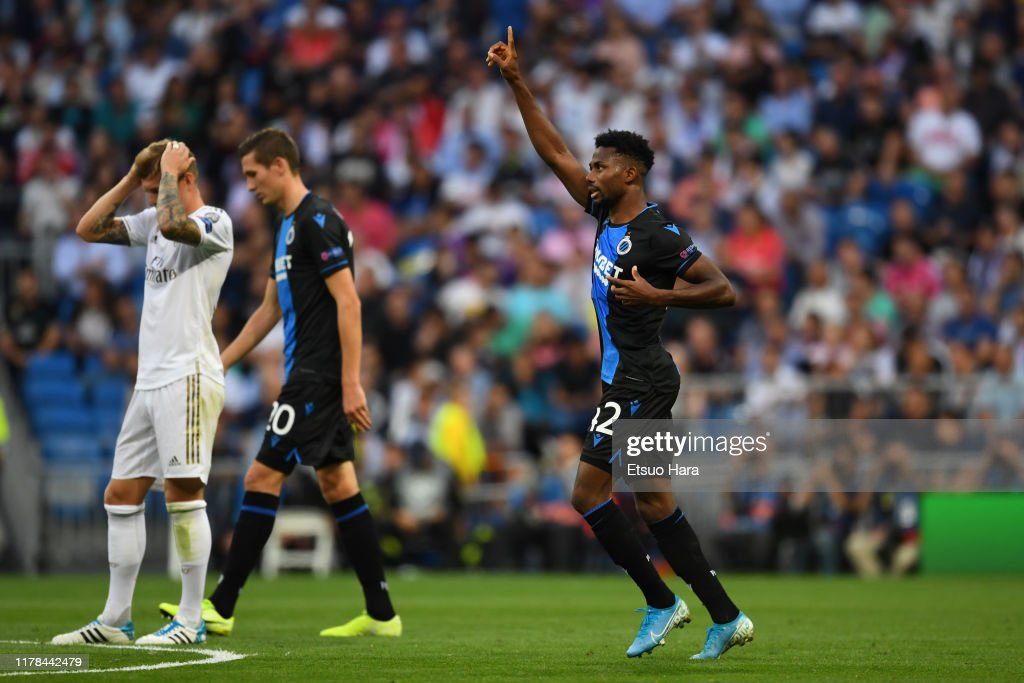 Real Madrid v Club Brugge KV: Group A - UEFA Champions League : News Photo
