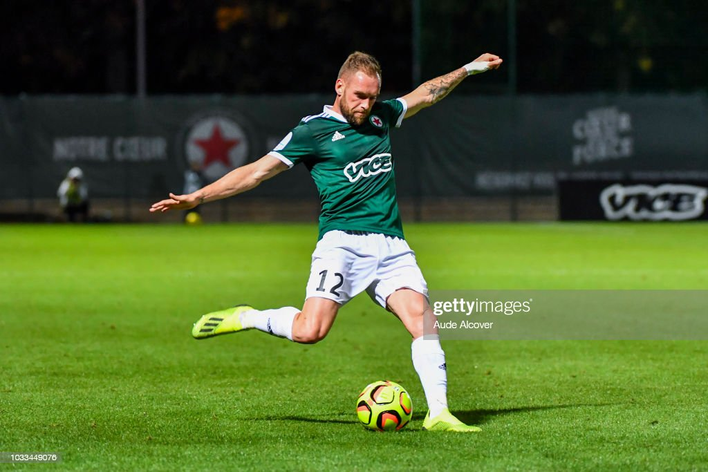 Emmanuel Bourgaud of Red Star during the French Ligue 2 match between Red star and Lorient at Stade Pierre Brisson on September 14, 2018 in Beauvais, France.