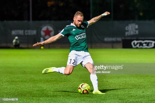 Emmanuel Bourgaud of Red Star during the French Ligue 2 match between Red star and Lorient at Stade Pierre Brisson on September 14 2018 in Beauvais...
