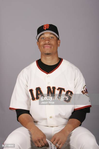 Emmanuel Burriss of the San Francisco Giants poses for a portrait during photo day at Scottsdale Stadium on February 27 2008 in Scottsdale Arizona