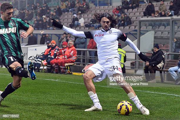 Emmanuel Caascione of AC Cesena in action during the Serie A match betweeen US Sassuolo Calcio and AC Cesena on December 20 2014 in Reggio...