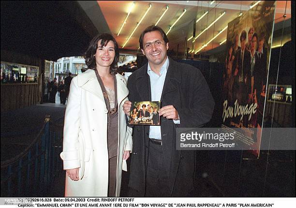 Emmanuel Chain and a friend preview of the movie 'Bon Voyage' by 'Jean Paul Rappeneau' in Paris