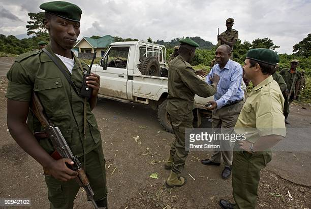 Emmanuel De Merode, the tireless ICCN Congolese Conservation Director of Virunga National Park, negotiates with CNDP rebels for the Congolese...