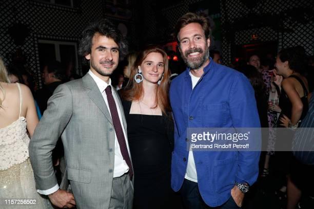 Emmanuel de Noailles, Laetizia Bemberg and Arthur de Kersauson attend Dinner Hosted In Honnour Of Alex Katz At The Art Gallery Thaddaeus Ropac And...