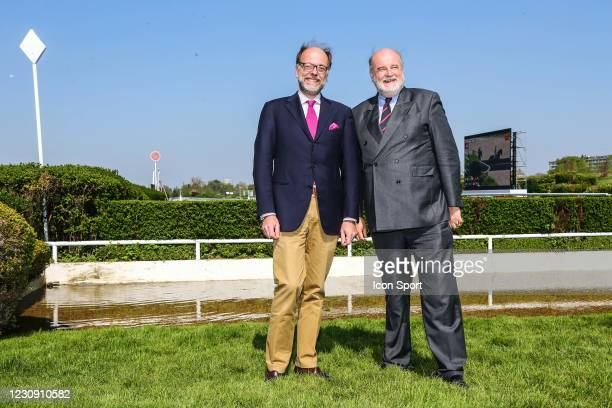 Emmanuel DE ROHAN CHABOT, president ZeTurf and Vicomte Jean D'INDY during the Meeting Auteuil on 11th April 2019