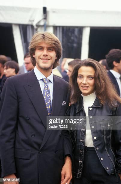 Emmanuel De Savoie et Alessandra Di Andia au concours d'automobiles anciennes Louis Vuitton Classic au Parc de Bagatelle le 11 septembre 1994 a Paris...