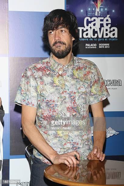 Emmanuel del Real Meme signs Cafe Tacuba's album El Objeto Antes at Teatro Metropolitan on October 14 2013 in Mexico City Mexico