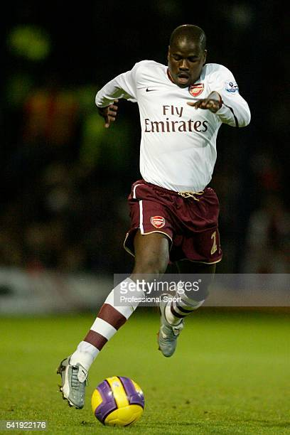 Emmanuel Eboue of Arsenal in action during the Barclays Premier League match between Portsmouth and Arsenal at Fratton Park in Portsmouth on the 26th...
