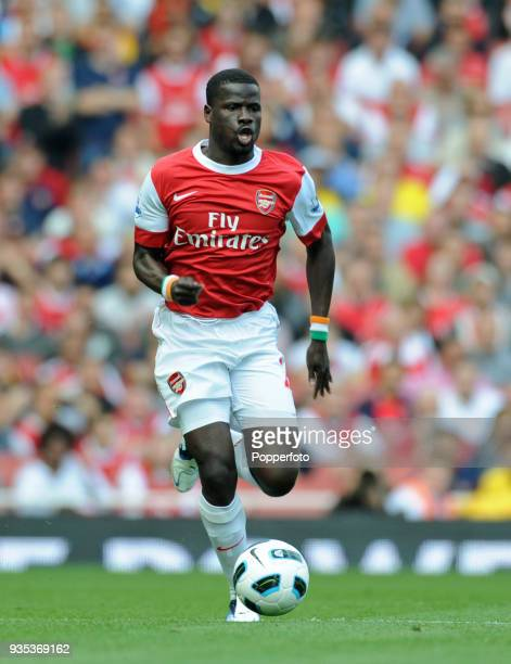 Emmanuel Eboue of Arsenal in action during the Barclays Premier League match between Arsenal and Bolton Wanderers at The Emirates Stadium in London...